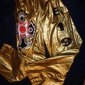 WWE Rey Mysterio 619 Kid Size Gold Replica Pants